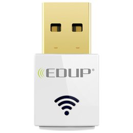 Wholesale Mini Usb Wifi Edup - EDUP AC1619 Dual-band 2.4G 5.8G AC600Mbps Mini Wireless USB Adapter Antenna Dongle Realtek8811AU Dual Band USB Wifi Adapters 20pcs lot DHL