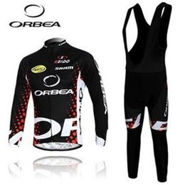 Wholesale Orbea Long Sleeve Cycling Jerseys - 2014 ORBEA men cycling Jersey sets in winter autumn with long sleeve bike top & (bib) pants in cycling clothing, bicycle wear