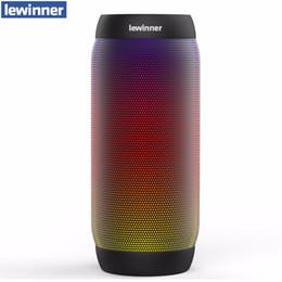 Iluminación impermeable inalámbrica online-Lewinner colorido impermeable LED portátil Bluetooth BQ-615 altavoz inalámbrico Super Bass Mini con luces parpadeantes FM