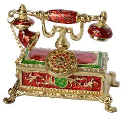 Wholesale Desktop Telephones - Antique telephone jewelry box trinket box desktop decoration home Desktop decoration