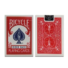 Wholesale Bicycle Play Cards - Original Bicycle Poker Blue or Red Regular Bicycle Playing Cards Rider Back Standard Decks Magic Trick Free Shipping
