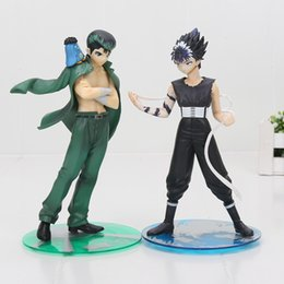 Wholesale Hakusho Figures - 18cm YuYu Hakusho Urameshi Yuusuke Hiei collettion PVC Toy figure dolls retail