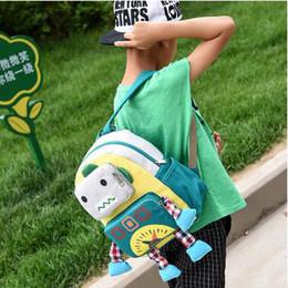 Wholesale Yellow Robot Cartoon - Hot Sale Cute Robot Backpack Kindergarten Children's School Bags Contrast Color Cartoon Backpack For 1-6 Years Old Discount