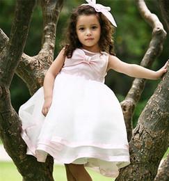 Wholesale Cupcake Collars Ivory - 2016 Flower Girl Dresses Princess glitz cupcake pageant dress Ball Gown High Neck Ball Gown Shot Flower Custom kids bridesmaid dresses12