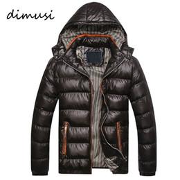 chaqueta térmica de moda para hombre Rebajas Venta al por mayor- 2016 nuevos hombres de la llegada chaqueta de invierno de moda con capucha térmica abajo de algodón Parkas para hombre casual Hoodies ropa de marca abrigo cálido PA064