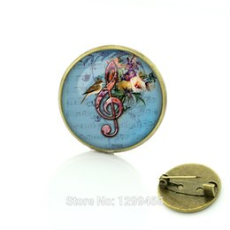 Wholesale Elegant Dresses Sold Wholesale - Wholesale- Vintage Style treble clef Brooch  pins dress Accessories Elegant Music Note Christmas Gift Wholesale Hot-Selling C117