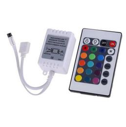 Contrôleur de télécommande en Ligne-1 PC LED Bande Lumière RGB Contrôleur Mini 24Key IR Télécommande Avec Mini Récepteur Pour 3528 5050 RGB LED Bande Lumière