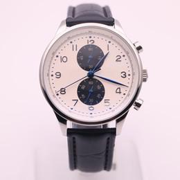 Часы португальские онлайн-DHgate выбранный продавец часы мужские черный кожаный ремешок часы португальский хронограф кварцевые часы мужские часы платье