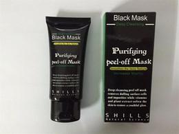 Wholesale Whitening Mask Powder - Black Suction Mask Anti-Aging 50ml SHILLS Deep Cleansing purifying peel off Black face mask Remove blackhead Peel Masks DHL free shipping