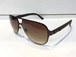 Wholesale Carbon Fashion - G2252 Fashion Men Brand Designer Sunglasses Wrap Sunglass Pilot Frame Coating Mirror Lens Carbon Fiber Legs Summer Style