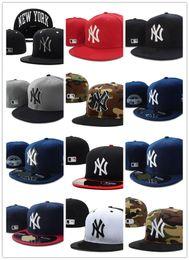 Wholesale Hat New York - 2017 new New York Fitted Hats for men women sports hip hop mens bones sun hats