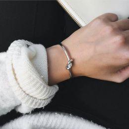 Wholesale Celtic Cuff - Wholesale-New Knot Fashion Men Bracelets Gold Plated Lovers Female Bracelet Bangles indische armreifen Open Cuff Bangles Woman bracelet