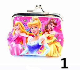 Wholesale Snow White Wallets - Cartoon Princess Snow White Girls Children colors coin Women purses wallet Material PVC Lady Coin Purses for Children N092