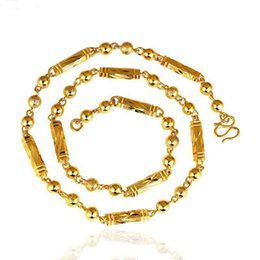 Wholesale Men S Gold Chain Necklace - Fashion Classic Jewelry Men 's Necklace 24K Gold Plated Hexagonal Column Twist Chain Necklace Chain Length XL4211