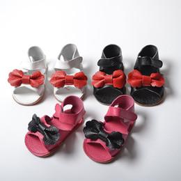 niedliche flache sandalen sommer Rabatt Neue Ankunft Baby Mädchen Echtem Leder Bogen Sandalen Kleinkind Sommer Flache Sohle Sandale Baby Kinder Nette Mokassins