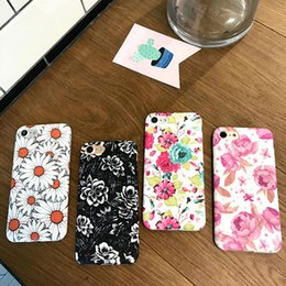 Wholesale Green Chrysanthemums - For Iphone 7 Phone Cases Flowers Chrysanthemum Lotus Lotus Simple Fresh Silicone All-In-One Mobile Phone Case For Iphone 6s 7plus 6 Plus