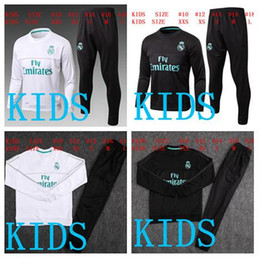 Wholesale Boy Top Quality - HOT SALE top quality kids 2017 2018 Real Madrid soccer tracksuit suit kids kits 17 18 RONALDO KROOS youth kids training suit SPORTSWEAR