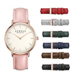 Wholesale Blue Line Cars - Ladies watch Simple and thin ladies car line belt Lucy Feifei waterproof watch 7 colors
