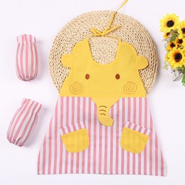 Wholesale Cook Clothing - Cute Kids Aprons Child Cooking clothing Children Waterproof Printed Painting Cleaning Baking Outdoor Garden Play Costume AS710-9R