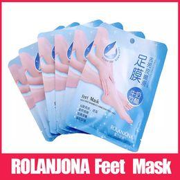 Rolanjona Milch Bambusessig Füße Maske Peeling Exfoliating Dead Skin Entfernen Professionelle Füße sox Maske Fußpflege von Fabrikanten