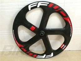 Wholesale Bike Carbon Wheel Clincher - free shipping carbon wheel 5 spokes wheels clincher tubular road wheel bike 700C bicycle 5 spokes wheels