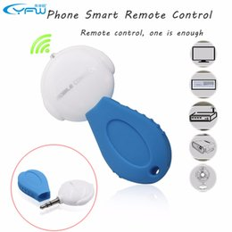 Wholesale Tv Air Phone - Wholesale- YFW 3.5mm Universal Phone Smart IR Remote Control Infrared Wireless Remote Control for TV DVD Air Conditioner