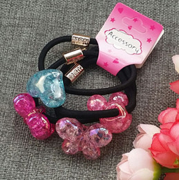 Wholesale Acrylic Hair Bands - 2017 new headwear hair accessories string acrylic beads hair band tire girl children