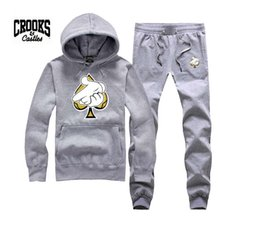 Wholesale Diamonds Fleece - Crooks and Castles sweatshirt diamond fashion hip hop hoodie mens clothes sportswear hiphop pullover sweats brand crooks stylish
