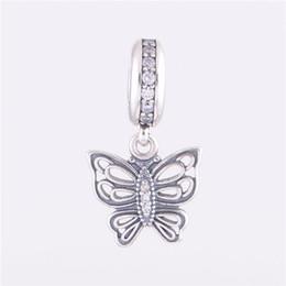 2014 Nouvelle Arrivée Papillon Dangle Charmes Pendentif En Argent Sterling 925 Convient Bracelets Européens Bracelets Memnon Bijoux LW371 ? partir de fabricateur