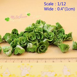 Wholesale Mini Clay Dolls - QQ_dollhouse 1:12 Scale Dollhouse Miniature Vegetable Chinese Cabbage LOT 10 pieces; Free one Bamboo Basket; Doll House Mini Vege