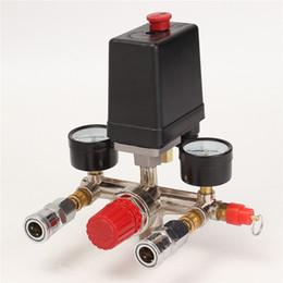 Wholesale Pressure Regulator Gauge - Air Compressor Pressure Control Switch Valve Manifold Regulator W Gauges Relief Auto Control Auto load unload