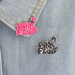 Wholesale Enamel Pin Badges - British Rock Band 2 Color Pink Floyd Enamel Pin Brooch Badge Pink Floyd Fans Gift Jewelry