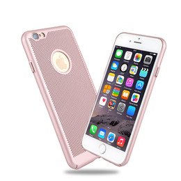 Wholesale Note Mesh - Wholesale Ultra-thin Mesh Heat Dissipation Cases Porous PC Back Covers For iPhone 6s 7 Plus Samsung Galaxy S8 S7 Edge Note 8 US01