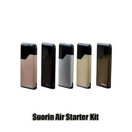 Wholesale E Kits - Authentic Suorin Air Starter Kit 16W 400mAh Battery 2ml Cartridge Tank E Cigarette Vaporizer Vape Pen Kit