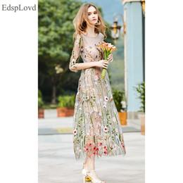 f83b06198 EdspLovd Partido Bordado Vestidos Ruway Floral Bohemian Flor Bordado Boho  Vintage Malha Vestidos 2017 Mulheres Vestido Vestido DS176