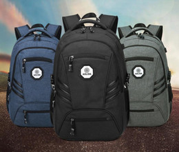 Wholesale 17 Inch Backpack - Business Water Resistant Polyester Canvas Backpack with USB Charging Port and Lock Fits Under 17-Inch Laptop Polyester and Nylon Notebook