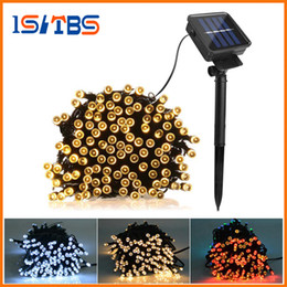 Wholesale Green Outdoor Christmas Lights - 100 LED 200 LED Outdoor 8 Modes Solar Powered String Light Garden Christmas Party Fairy Lamp 10m 22M