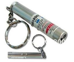 Wholesale Uv Led Pointer - 2 in 1 White LED Light Laser Pointer+UV Light Keychain +LED Flashlight Torch Laser Color Red