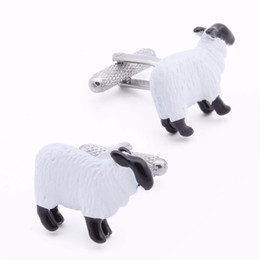 Wholesale Brass Sheep - Causal Shaped Sheep Animal Design Cuff Links Sale For Men