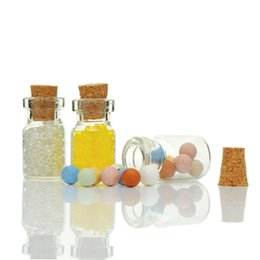 Wholesale Wholesale Small Glass Bottles Jewelry - Bottle Plug Tiny Glass Bottles With Corks Small Glass Jars Jewelry Vial Potion Container DIY Crafts Sundry Organizer 10PCs