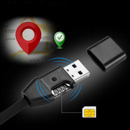 Wholesale Car Gsm Gps Alarm - USB cable charging function hidden GSM SIM Voice Activate BUG GPS global locator tracker