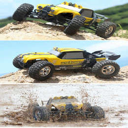 Wholesale Rc Truck Waterproof - Wholesale- New HBX 12891 1 12 4WD 2.4G Waterproof Hydraulic Damper RC Desert Buggy Truck with LED Light RC Car Toys