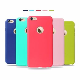 Wholesale Transparent Back Cover For Mobile - TPU Gel Soft Back Cover Candy Color Silicon Mobile Skins Case for iPhone x 7 8 7Plus 8 plus 6s 6 plus SE