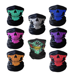 Wholesale Shot Skull - Face Protection Airsoft Paintball Shooting Gear Half Face Screen Printing Tactical Airsoft Mask Tactical Ghost Skull Mask