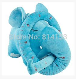 Wholesale Long Nose Animal - Wholesale- Free Shipping 120cm long nose +30cm body elephant plush doll for baby children,Soft animal stuffed plush baby toy for kids