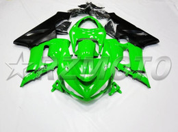 Wholesale Plastic Mold Cover - New Fairings For Kawasaki ZX6R ZX-6R Ninja 636 05 06 2005 2006 ABS Cover Plastic Motorcycle bike Fairing Kits Bodywork set green black matte