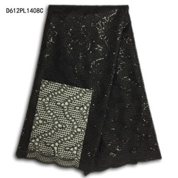 Wholesale Girls Multi Colored Dresses - wholesale New Designs African French black Lace Fabric High Quality Nigeria French Net Lace With and For Women girls dress DMPLblack001