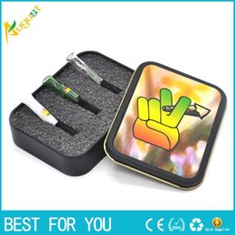 Wholesale Box Mouth - Wholesale-Smoking Glass Reusable cigarette Filter Tips Cigarette holder Mouthtips Glass Snuff Mouth Tips tobacco box Color random