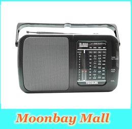 Wholesale High Band Radio - Wholesale-TECSUN R-404 High Sensitivity FM Radio MW SW Radio Receiver FM WM SW1 SW2 All Band With Built-In Speaker