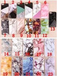 Wholesale Mobile Cover Back Paintings - Marble Stone image Painted case Back Cover Mobile Phone Bags Cover For iPhone 7 6 6S Plus 5 5S SE goophone i7 plus